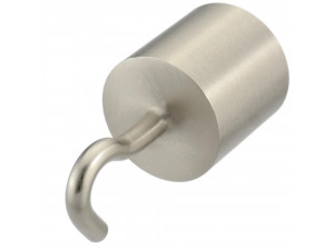 Metal Cover with hook for rope Ø 30 or 40 mm - MAT NICKEL
