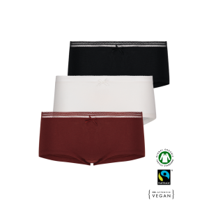 ECO Cotton Women's boxer panties /simplepack - 3 Pair