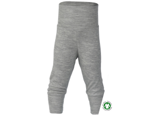 BIO Merino-Silk Baby Pants, GREY - size 50/56 to 86/92