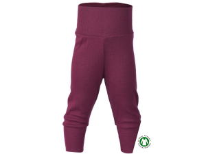 BIO Merino-Silk Baby Pants, PURPLE - size 50/56 to 86/92