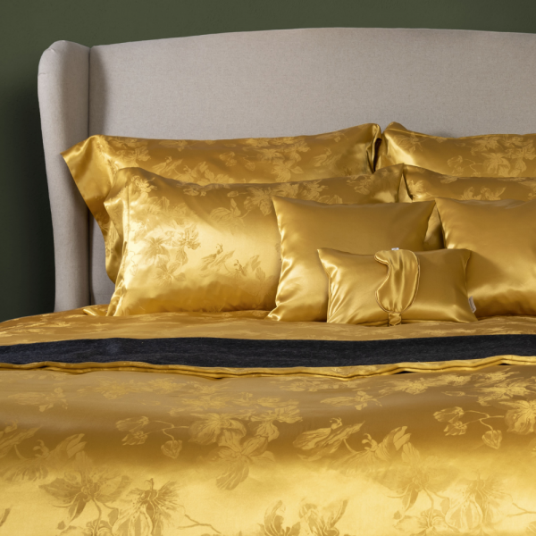 Luxury Silk Bedding Pillowcase 100, Black And Gold Silk Bedding